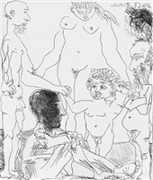 reflexion du peintre sur la vie, from the 60 series, 5 april by pablo picasso