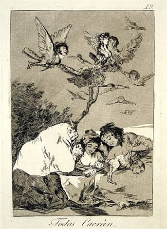 todos caeran (all will fall) by francisco de goya
