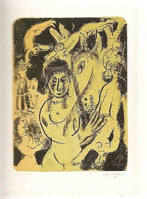 the midsummer night's dream by marc chagall