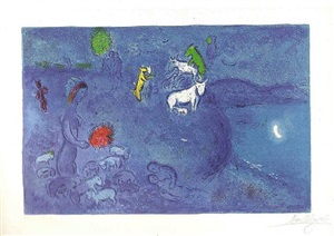 spring (from daphnis & chloe) by marc chagall