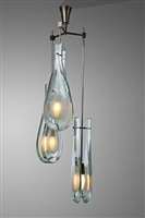 suspension mod 2450 / chandelier mod. 2450 by max ingrand