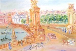 ponte alexandre by jean dufy
