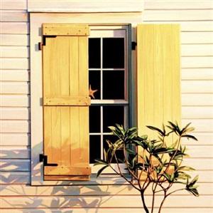 key west, yellow shutters by roger hayden johnson