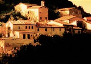 hillside village, castiglione d'orcia by roger hayden johnson