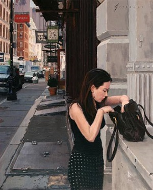girl on greene street (sold) by vincent giarrano
