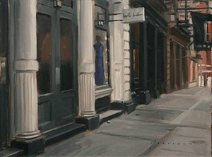 greene street - plein air (sold) by vincent giarrano