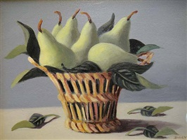 pears in a basket by dory coffee