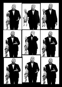 alfred hitchcock (contact sheet), los angeles, 1973 by albert watson