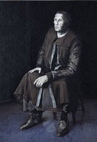 dormant figure (portrait of martin luther) by paul hodgson