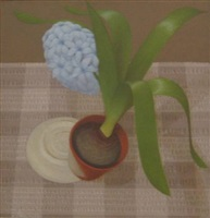 pot with hyacinth by victor newsome