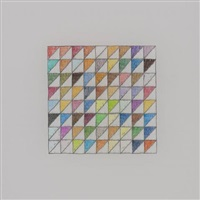 Untitled (72 colors in a bisected ½ inch grid), 2009