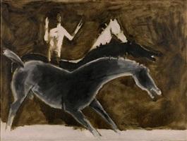 horses by maqbool fida husain