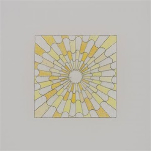 untitled (shades of yellow in a serpentine checkerboard) by george stoll