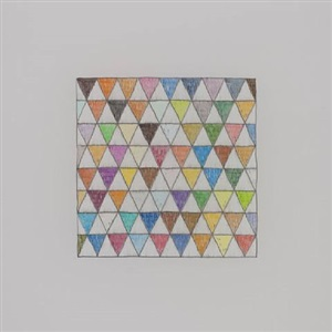 untitled (72 colors and 72 whites in a triangular checkerboard) by george stoll