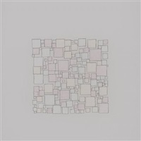 Untitled (pale pinks in an exploded grid), 2010