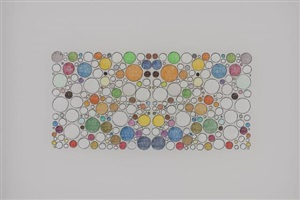 untitled (72 colors in a circular grid, mirrored) by george stoll