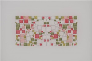 untitled (peony colors in an exploded grid, mirrored) by george stoll