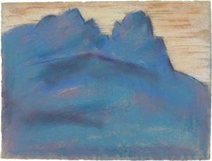 blue mountain (garmisch-partenkirchen) by marsden hartley
