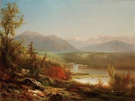 white mountain scenery by william m. hart