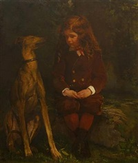 a boy and his dog (dickey hunt) by john la farge