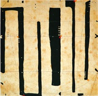 cue benefit auction / three string etching, ligos by caio fonseca