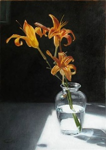 lilies in morning by lisa gloria