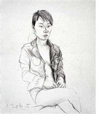 sketch of a girl no.1 by liu xiaodong