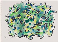 2009 sketch no. 10 by ding yi