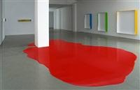 installationsansicht mit farbguß, kaminrot und gußboxen by rainer splitt