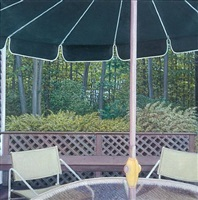 green umbrella by cecile gray bazelon