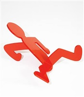 untitled (breakdancer or red fallen man) by keith haring