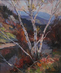 birch trees by emile albert gruppe