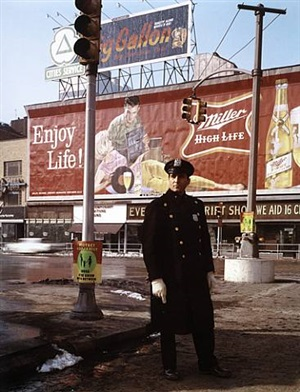 policeman 59th st., new york by evelyn hofer