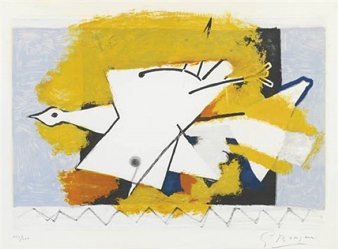 l'oiseau jaune by georges braque