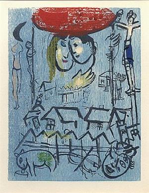 des chémins<br>poémes, plate 23 by marc chagall