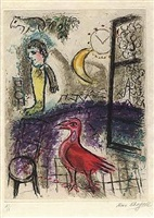 de mauvais sujets, plate 8 by marc chagall