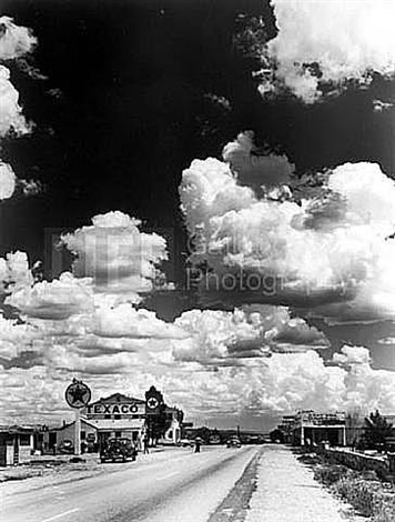 texaco station on route 66 by andreas feininger