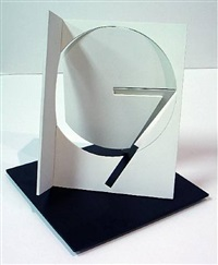 folded square numberical 7 by fletcher benton