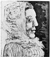 buste de femme au fichu (bloch 324) by pablo picasso