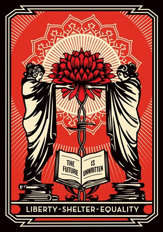 the future is unwritten edition 26100 by shepard fairey