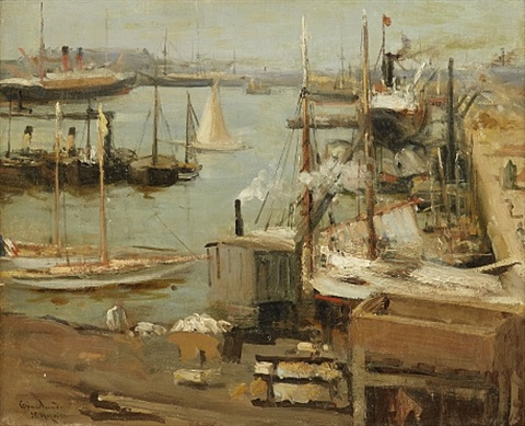 The Port Of Saint Nazaire By Johannes Martin Grimelund On Artnet