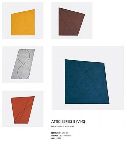 attic series ii (vi-x) by robert mangold