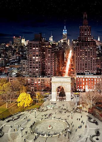 washington square park by stephen wilkes