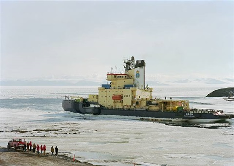 oden, swedish ice breaker, mcmurdo, antarctica by an-my lê