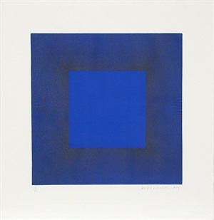 midnight suite (blue with black) by richard anuszkiewicz