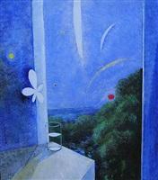 flor con sol y luna by vicente gandía