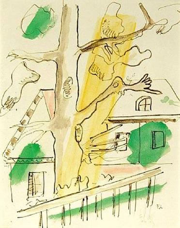 composition á l'arbre by fernand léger