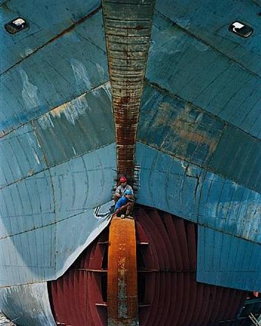 shipyard #17, qili port, zhejiang province, china by edward burtynsky