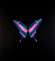 the souls on jacob's ladder take their flight (blue with pink/yellow) - unique by damien hirst