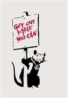 get out while you can by banksy